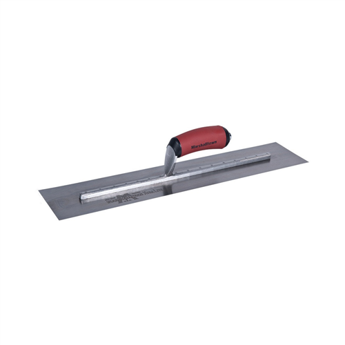 Unnotched 20-inch Finishing Trowel with Curved DuraSoft Rubber Handle - MXS66D