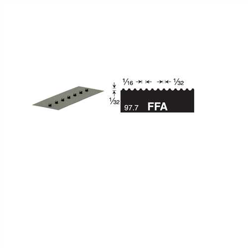 U1 Versablade U Notch 680-FFA Trowel Blade