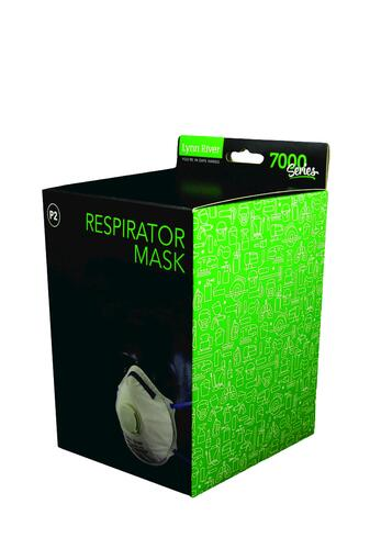 Lynn River Respirator Mask P2 with comfort Valve - pkt of 10