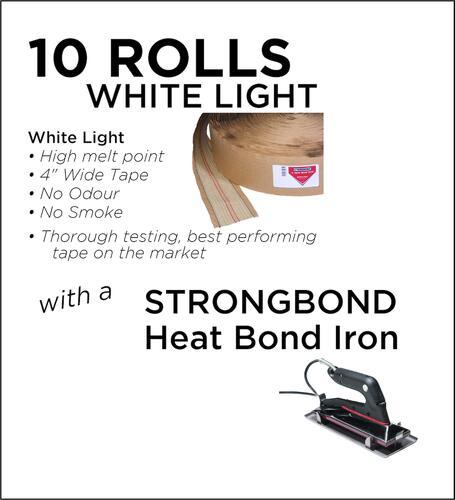 Strongbond Heat Seam Tape Combo White light with Heat Bond Iron