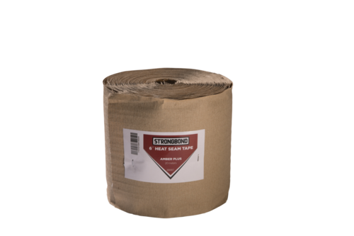 "Strongbond 6"" Wide Amber Plus  Heat Seam Tape roll"