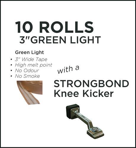 Strongbond Heat Seam Tape Combo Green Light with Knee Kicker