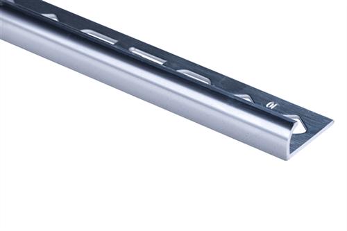 Roberts TRA120-B Bright Silver Finish Round Edge Aluminium Tile Trim 12 x 2500 mm