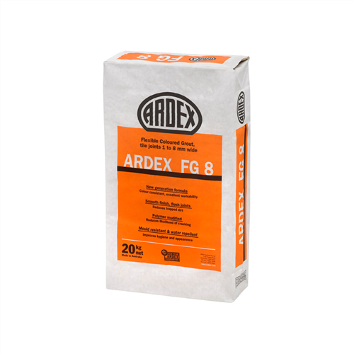 Ardex FG8 Charred Ash Flexible Coloured Grout 20 kg
