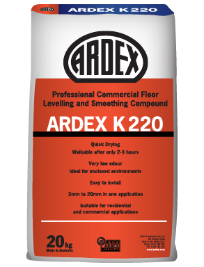 K220 Commercial Levelling & Smoothing Compound 20kg Bag