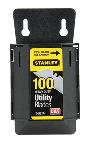 Stanley 11-921A Heavy-Duty Utility Blades with Dispenser 100 pack