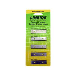 Linbide 50mm Scraper Blades  - 5 per card