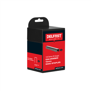 Delfast Galvanised Staples 140 Series 10 mm - 5000
