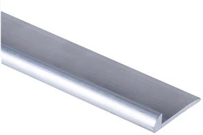 Strongbond Silver Aluminium Vinyl Cove Capping 2.44m
