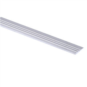 Strongbond Silver Aluminium Ramp Edge Reducing Strip 2.44m