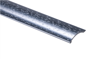 Strongbond Silver Hammered Coverstrip 1651.LL Aluminium Floor Trim 2440 mm