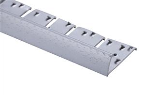 Strongbond Silver Domestic Hammered 2555.C20 Naplock Contour Aluminium Floor Trim 2.44m