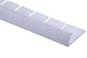 Strongbond Silver Hammered Pinless 3113.C20  Naplock Contour Floor Trim 2.44m