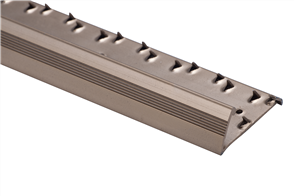 Strongbond Bronze Reeded / Fluted Pinned 9333.L20 Naplock Aluminium Floor Trim 2.44m