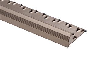 Strongbond Bronze Reeded / Fluted Pinned 9333.L20 Naplock Aluminium Floor Trim 2.44m