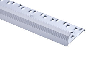 Strongbond  Reeded / Fluted Pinned 7333.L20  Naplock Aluminium Floor Trim 2.44m