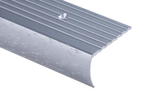 Strongbond  Commercial Hammered 2844 Stair Nosing Aluminium Floor Trim 2.44m
