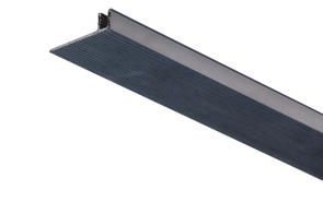 Roberts Edge Cap Base Bar  7108 Pinless (Snap-In-Insert) Aluminium Floor Trim 2.44m