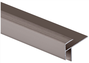 Roberts Bronze Junior Stair Nosing 50.E15B  Aluminium Floor Trim 3.30m