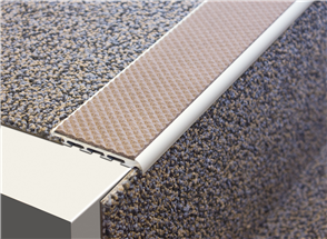 Tredsafe AA124 Stairnosing Carpeted Stairs 10mm drop (sold per metre)