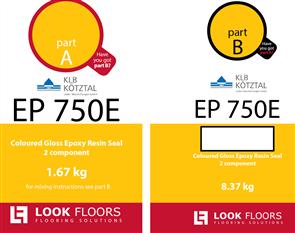 KLB EP 750 Light Grey 7035 RAL  10 kg kit