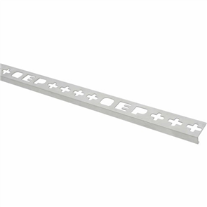 Roberts TASE 12-M Silver Bright Square Edge Aluminium Tile Trim 12 x 2500 mm