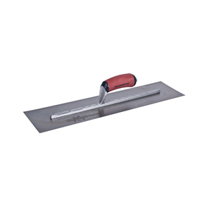 Unnotched Finishing Trowel with Curved DuraSoft Rubber Handle 508 x 125 mm