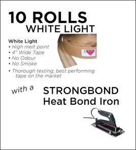Strongbond Heat Seam Tape Combo White light with Heat Bond Iron