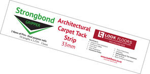 Strongbond Architectural Carpet Tack Strip 7.5mm Dual Purpose - 33mm x 70 lengths