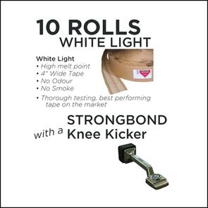 Strongbond Heat Seam Tape Combo White light with Knee Kicker