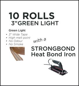 Strongbond Heat Seam Tape Combo Green Light with Heat Bond Iron