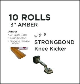 "Strongbond Heat Seam Tape Combo 3"" Amber with Knee Kicker"