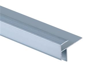 Roberts Silver Junior Stair Nosing 50.E15S  Aluminium Floor Trim 3.30m