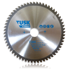 Tusk Aluminium Tungsten TACH 235 80T Carbide Blade 235 mm