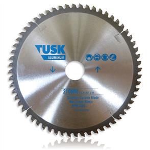 Tusk Aluminium Tungsten TACH 210 60T Carbide Blade 210 mm