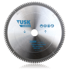 Tusk Aluminium Tungsten TACM 254 60T Carbide Blade 254 mm