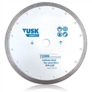 Tusk Continuous Tile TCB 230 Blade 230 mm