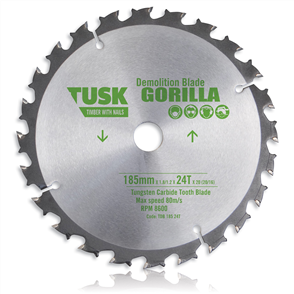 Tusk TCT Demolition TDB 185 24T  Blades 185 mm