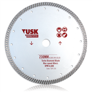 Tusk Turbo General Purpose Blade TGP 180  180 mm