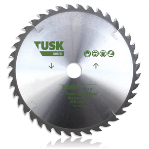 Tusk TTBH 210 40T Timber Tungsten Carbide Blade 210 mm