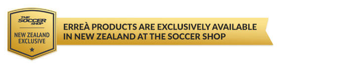 Errea products are exclusively available in New Zealand at The Soccer Shop
