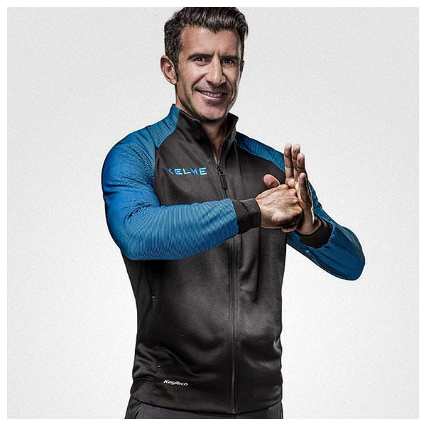 Luis Figo is the brand ambassador for Kelme Sportswear