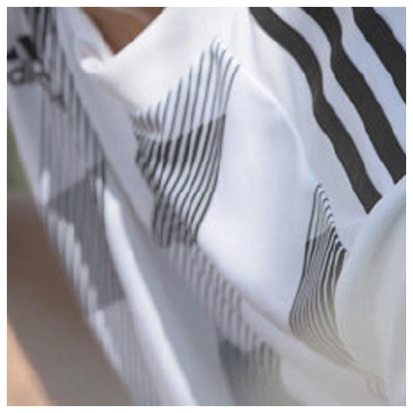 the adidas Striped 19 Jersey offers a modern interpretation of a classic theme