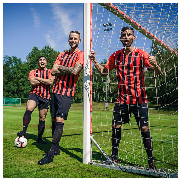 the 2019 Nike teamwear collection inclide the Nike Precision IV Jersey, Nike Academy 18 Jersey, Nike Inter Striped Jersey, Nike Sash Jersey and Nike Striker IV Jersey