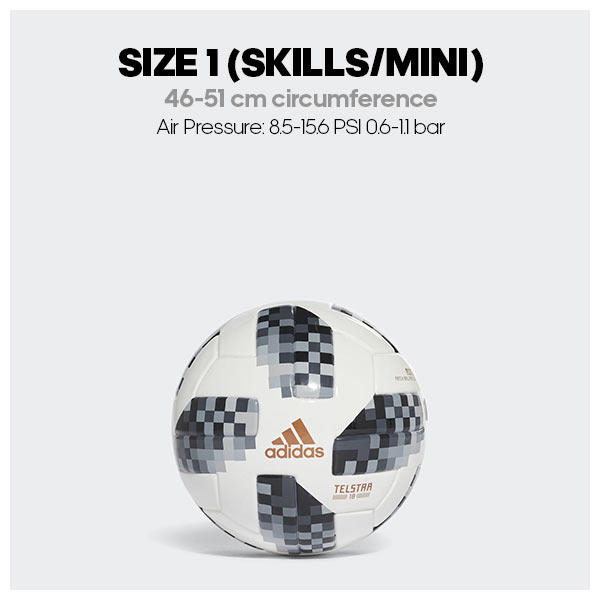 Size 1 soccer ball dimensions