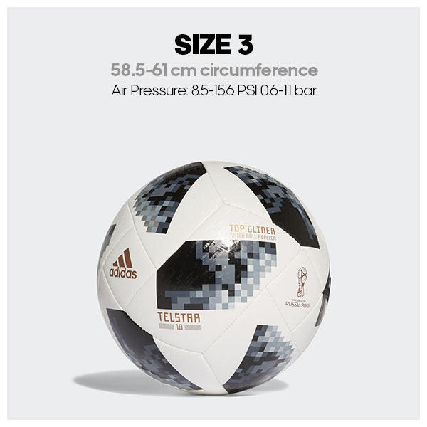 Size 3 soccer ball dimensions