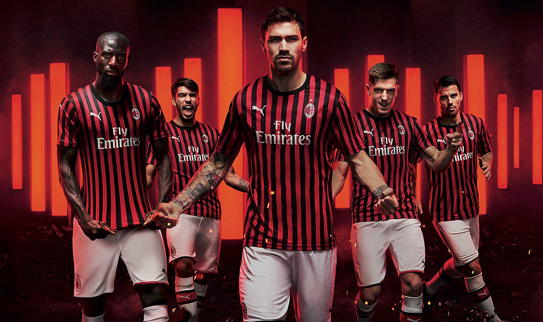 The 2019-20 AC Milan Home Kit