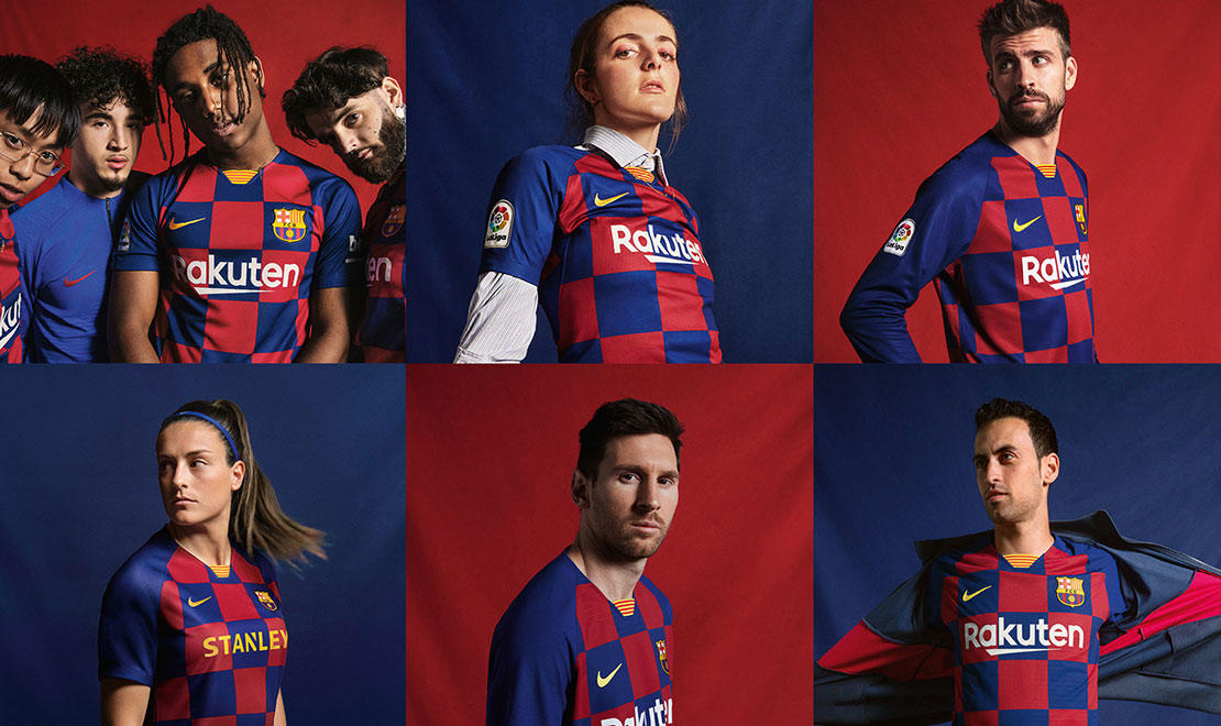 The 2019-20 FC Barcelona Home Kit