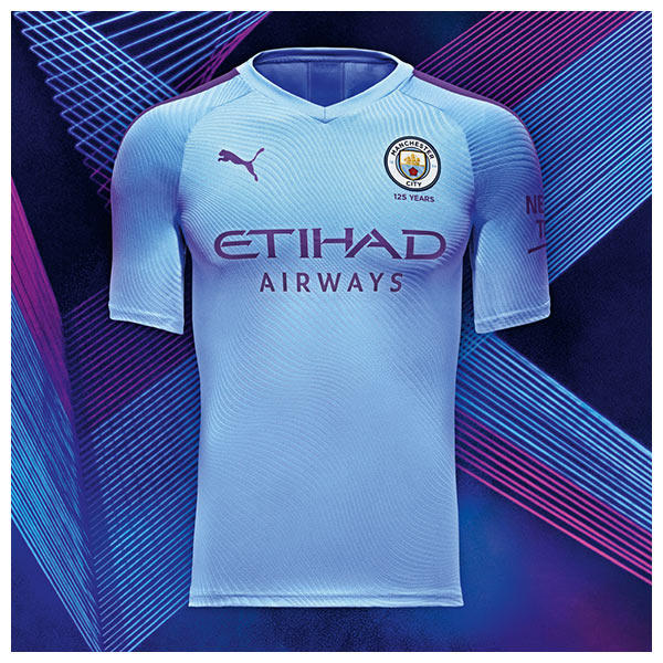 The 2019-20 Manchester City Home kit draws inspiration from Manchester's industrial heritage