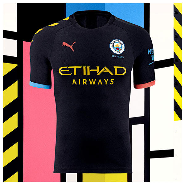 The 2019/20 Manchester City Away kit celebrates the city's Madchester years
